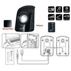 Boxe Genius SP-U115 2.0, 1.5W, USB, negru