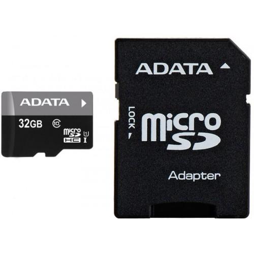Card de memorie Adata microSDHC AUSDH32GUICL10-RA1, 32GB, Clasa 10 + adaptor SD