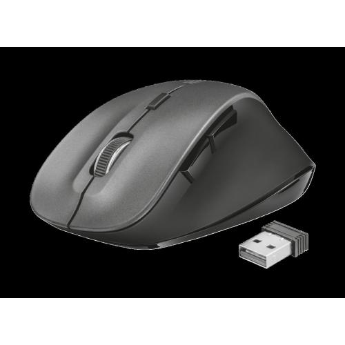 Mouse Wireless Trust Ravan, 1600 DPI (Negru)