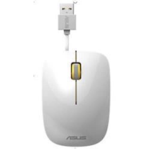 Mouse ASUS UT300 Optic cu fir 1000dpi Alb-Galben