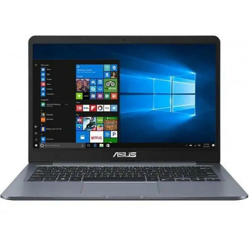 "Laptop ASUS E406NA cu procesor Intel® Celeron® N3350 pana la 2.40 GHz, 14"", Full HD, 4GB, 128Gb eMMC, Intel® HD Graphics 500, Windows 10 Home S, Star grey"